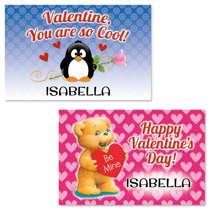 Reversible Valentine Placemat- Penguin/Bear