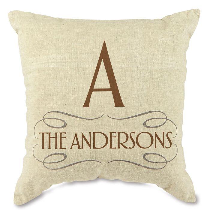 Family Decorative Pillow-Brown-815669B