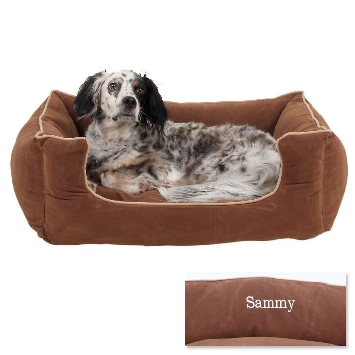 Medium Low Profile Pet Bed - Chocolate