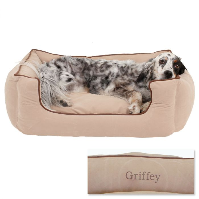 Medium Low Profile Pet Bed - Linen