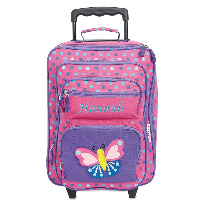 """3-D Butterfly 18"""" Rolling Luggage"""