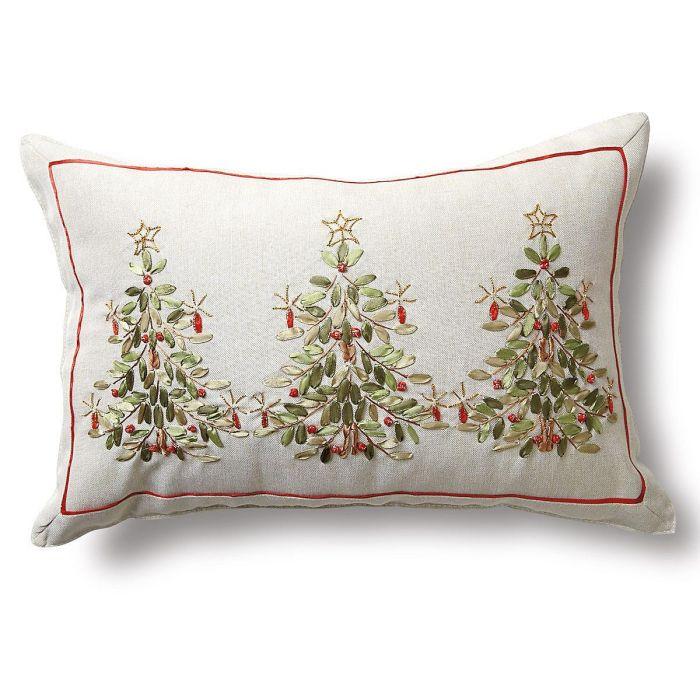 Ribbon Christmas Tree Pillow