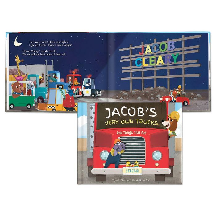 My Very Own Trucks Personalized Storybook