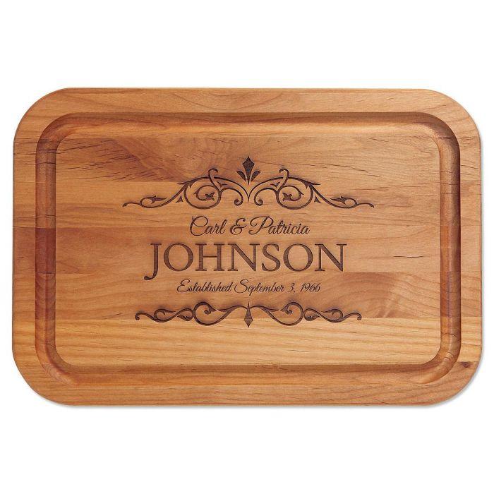 Alder Established Personalized Wood Cutting Board