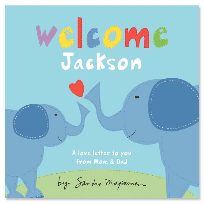 Welcome, Little One Blue Elephant Personalized Storybook