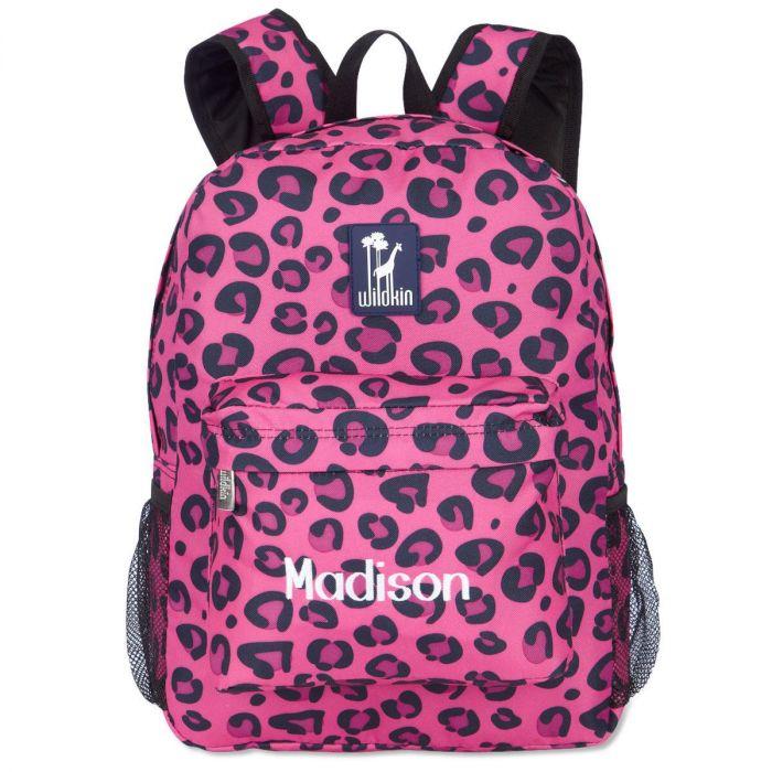 Pink Leopard Backpack