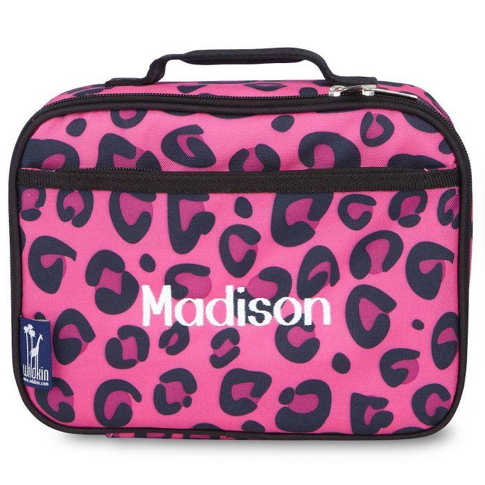Pink Leopard Lunch Bag