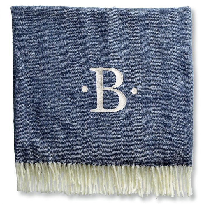 Personalized Blanket with Dots and Initial