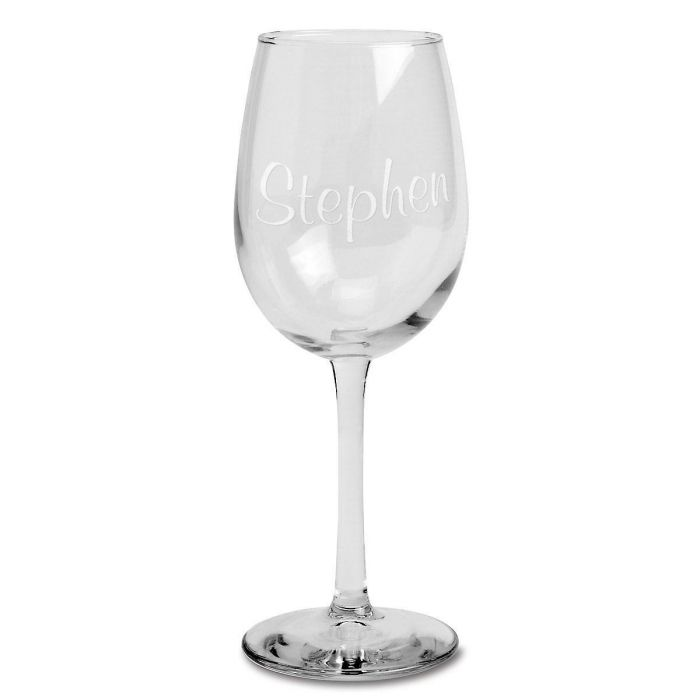 Stemmed Wine Glass with Name