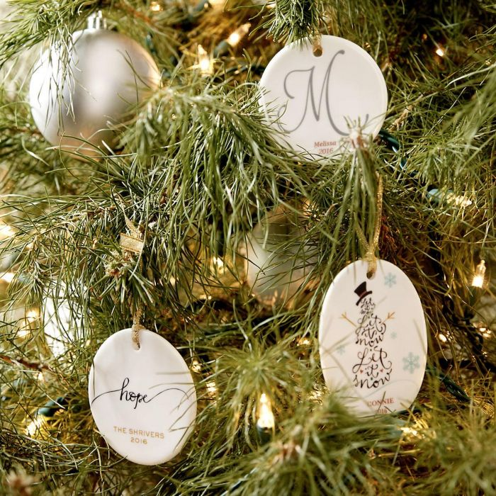 Let it Snow Oval Christmas Personalized Ornaments