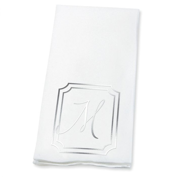 Frame Initial Foil-Stamped Disposable Hand Towels