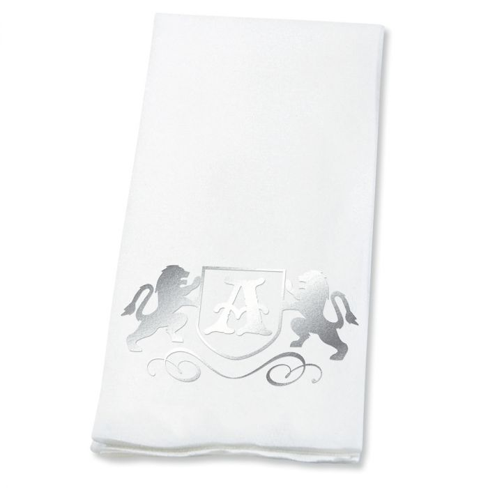 Lion Initial Foil-Stamped Disposable Hand Towels