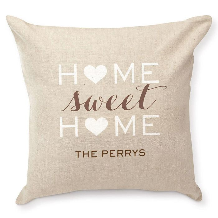 Home Sweet Home Personalized Pillow by Designer Jillian Yee-Pham
