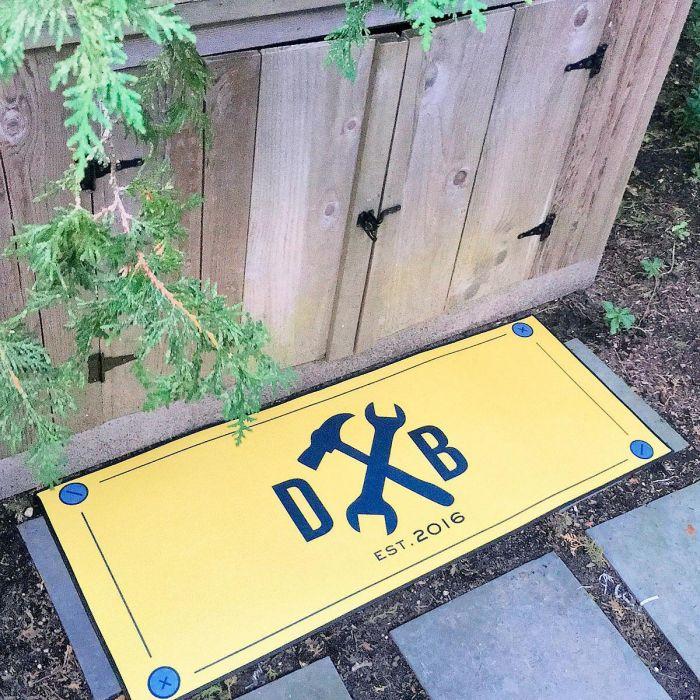 Tools Double-Width Personalized Doormat