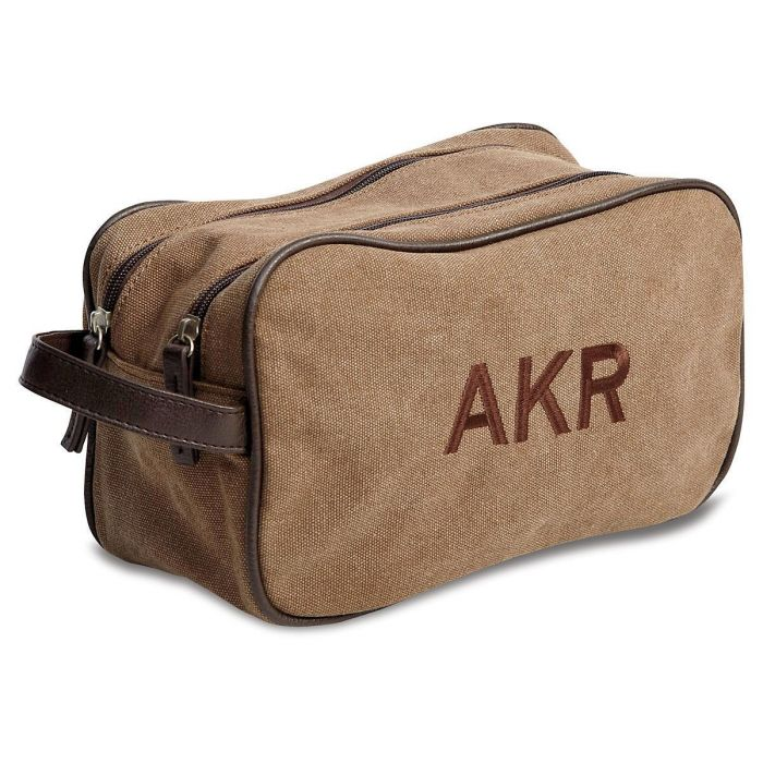 Customized Man-Style Tan Toiletry Bag
