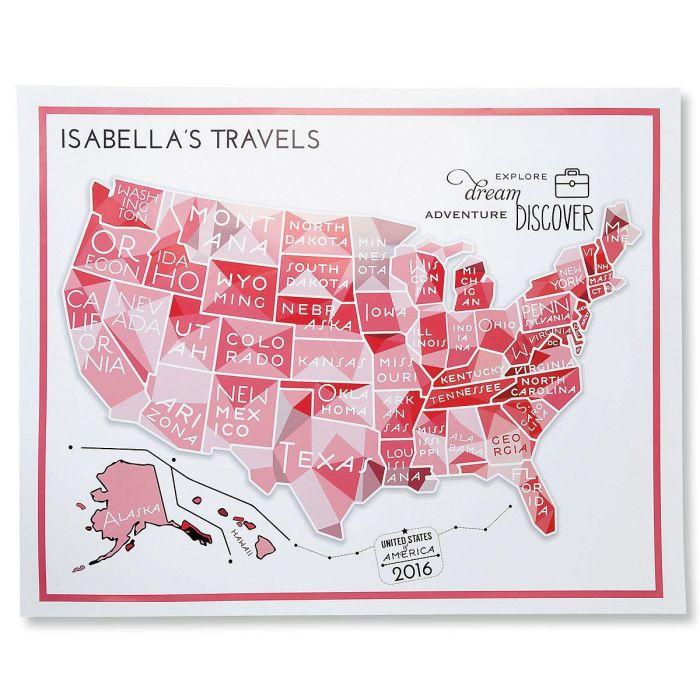 Pink Travel Map