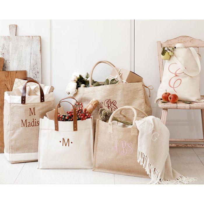 Personalized Large Jute Market Bag