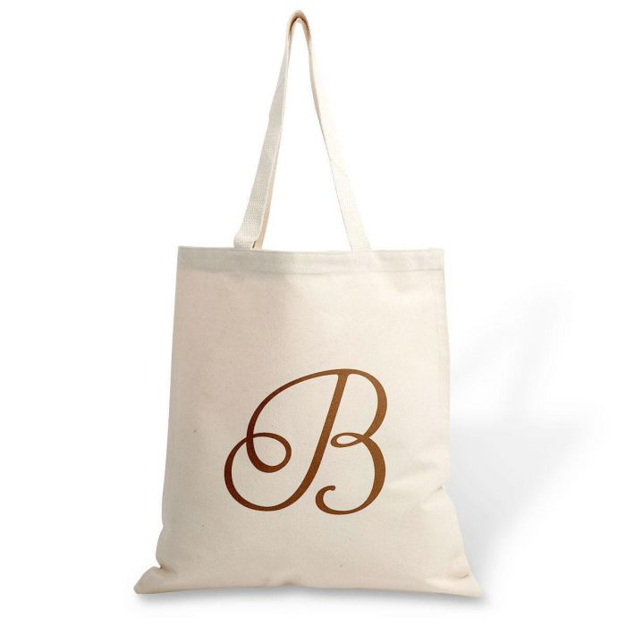 Personalized Initial Canvas Tote