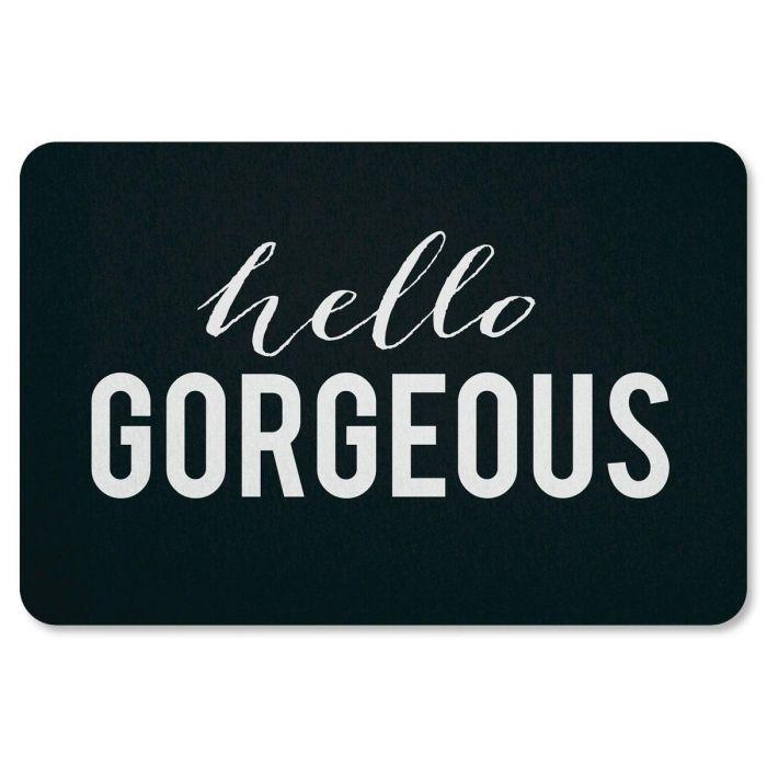 Hello Gorgeous Personalized Doormat
