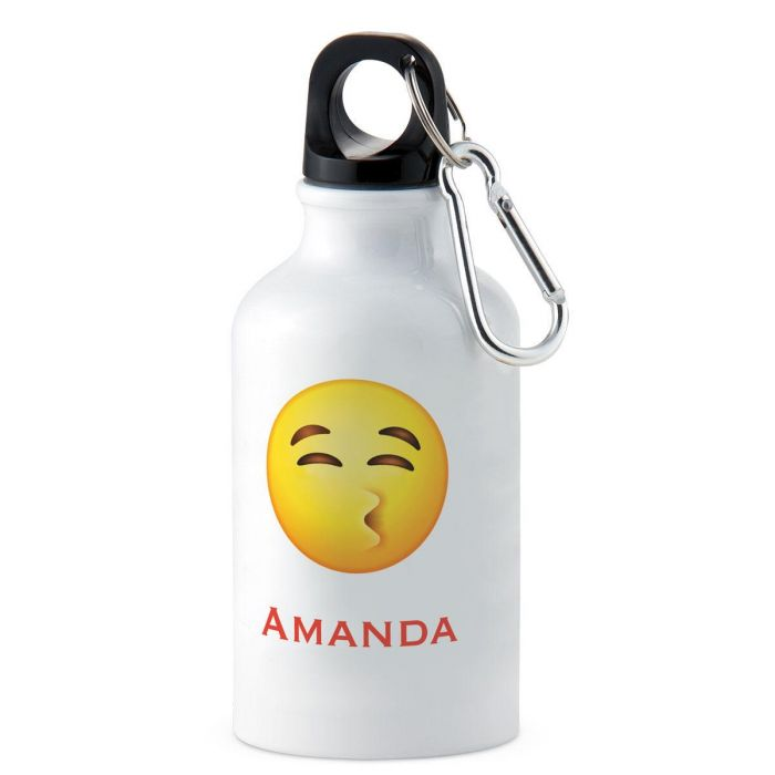 Kiss Emoji Personalized Water Bottle