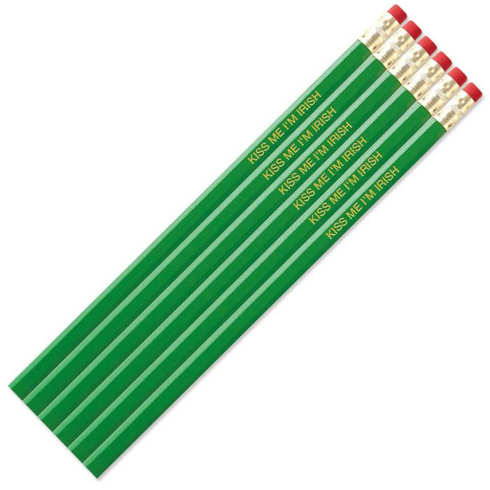 Bright Green Personalized Pencils