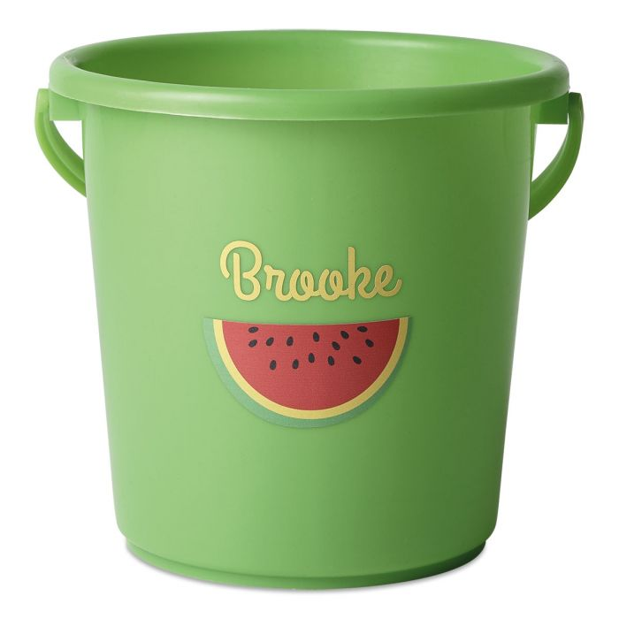 Personalized Beach Bucket-Green-816451A
