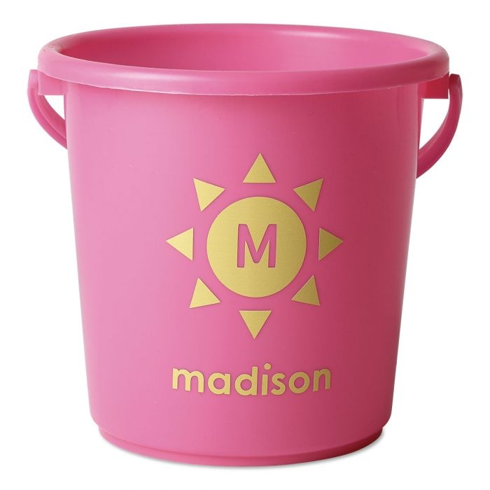 Personalized Beach Bucket-Pink-816451B