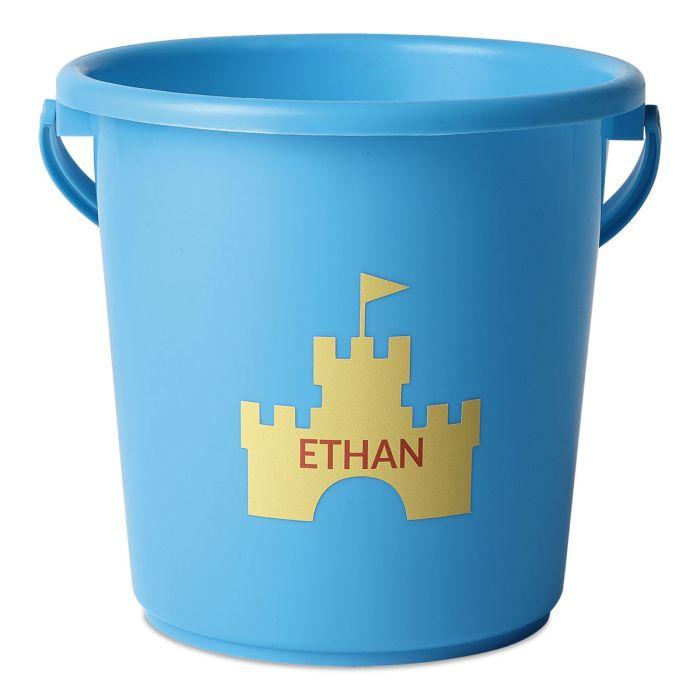 Personalized Beach Bucket-Blue-816451C