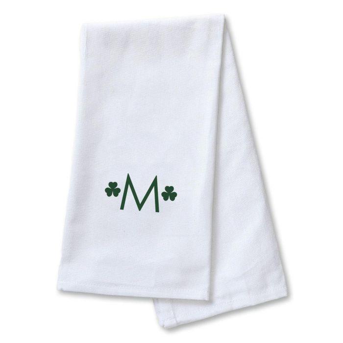 Shamrock Personalized Dish Towel