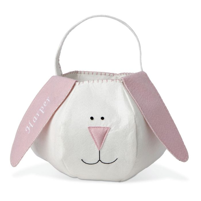 Easter Bunny Personalized Basket-Pink-816469