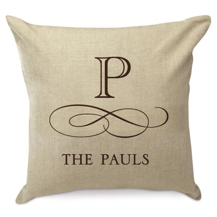 Scroll Name Personalized Pillow