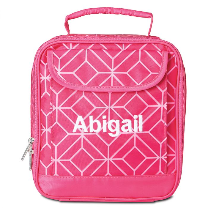 Pink Geo Lunch Bag