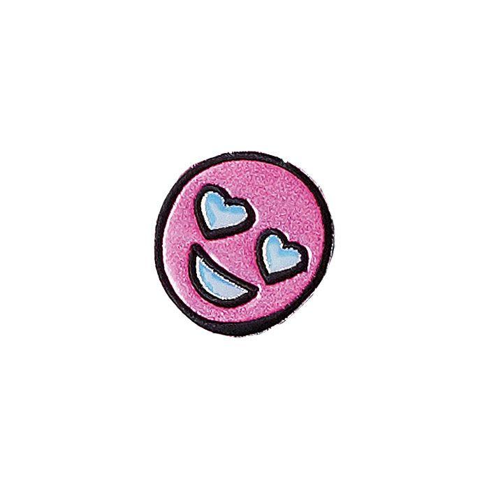 Puffy Glitter Heart Eyes Sticker Patch from Stoney Clover