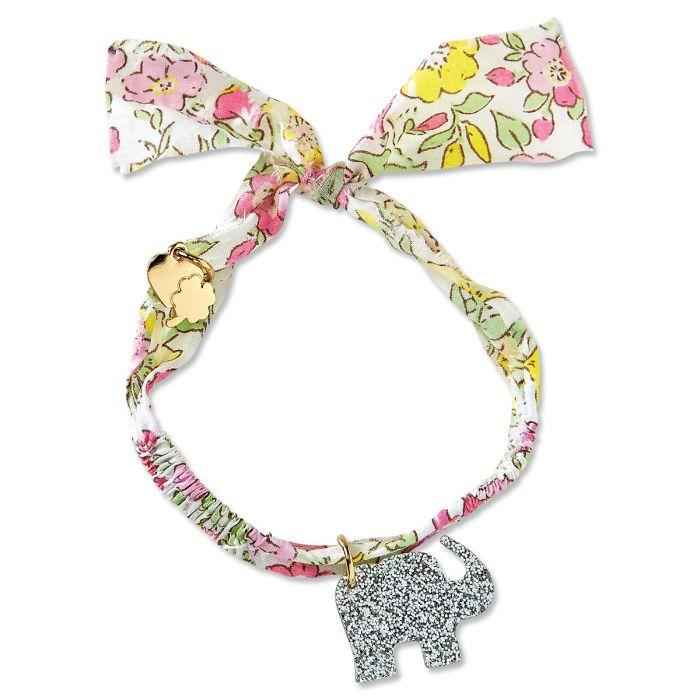 Elephant Fabric Charm Bracelet by Stoney Clover Lane