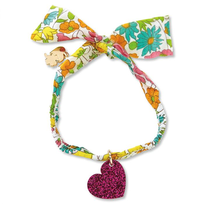 Heart Fabric Charm Bracelet by Stoney Clover Lane