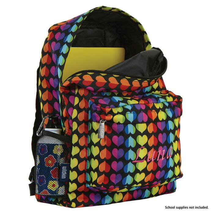 Rainbow Heart Personalized Backpack