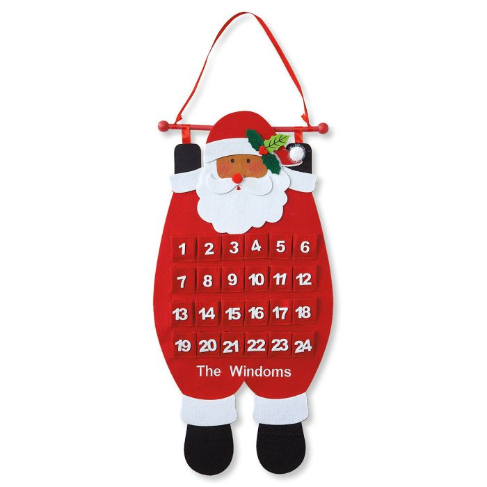Santa Countdown Personalized Calendar