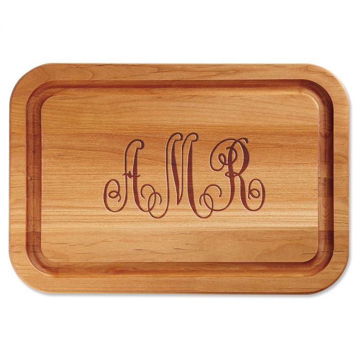 Monogrammed Personalized Wood Cutting Board