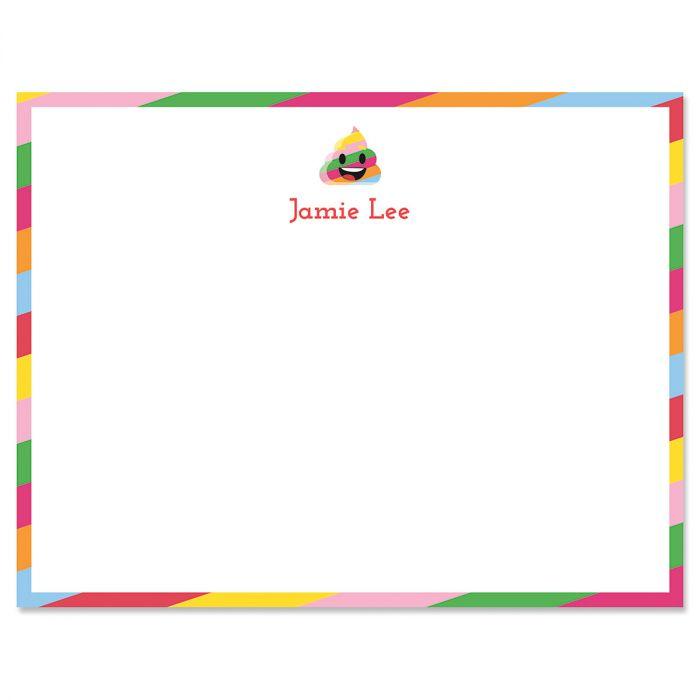 Rainbow Poop Emoji Correspondence Cards