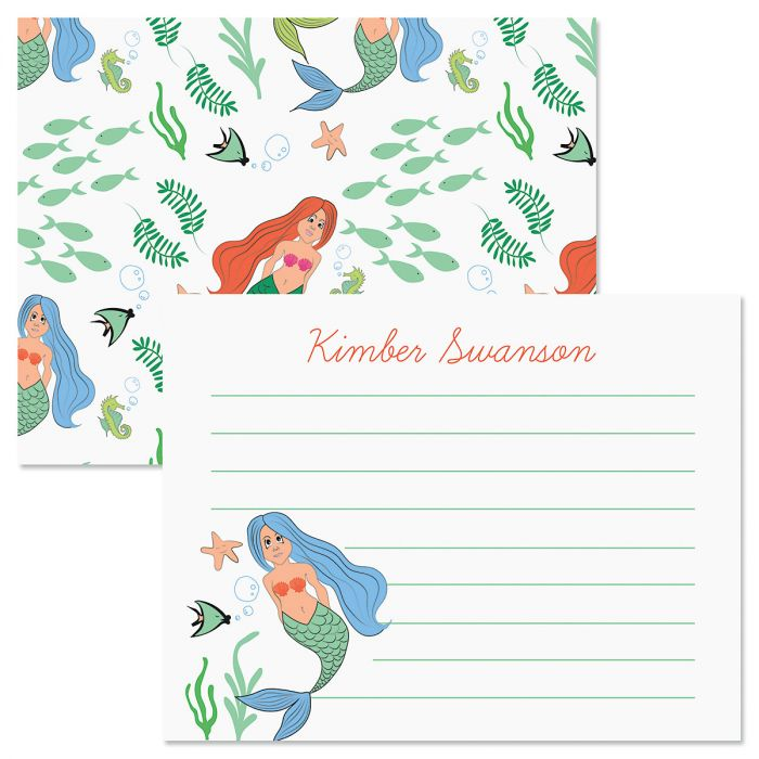 White Mermaid Correspondence Cards