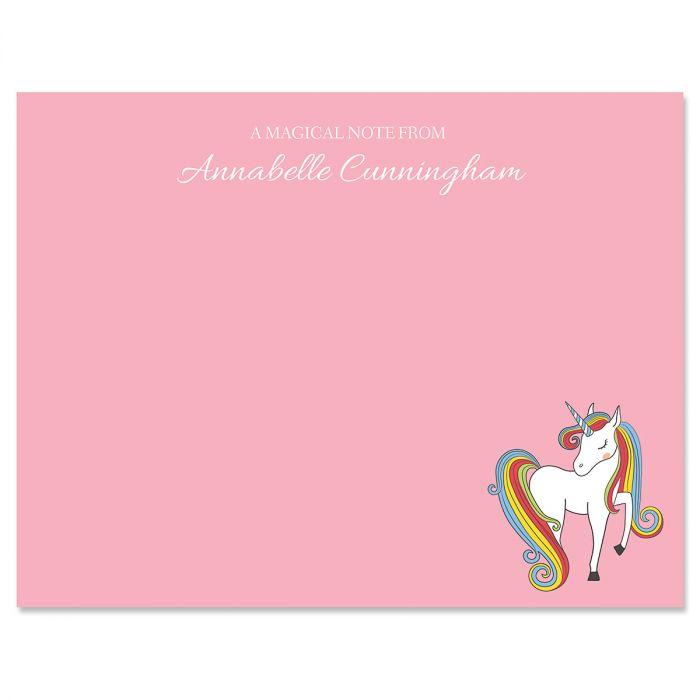Fantasy Unicorn Correspondence Cards