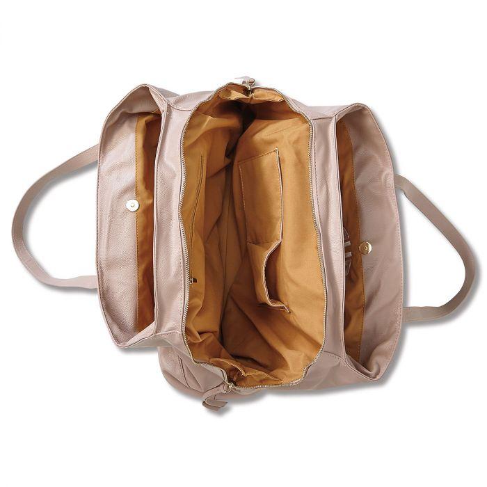 Personalized Blush Overnight Travel Bag