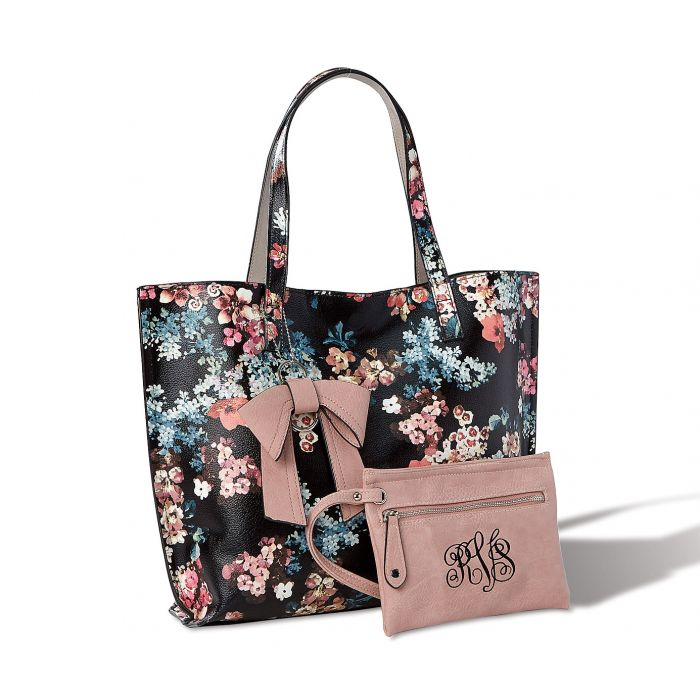 Reversible Tote with Matching Personalized Wristlet