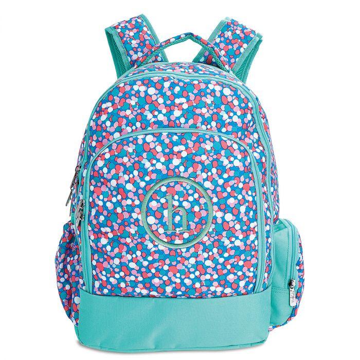 Personalized Confetti Pop Backpack  – Monogram