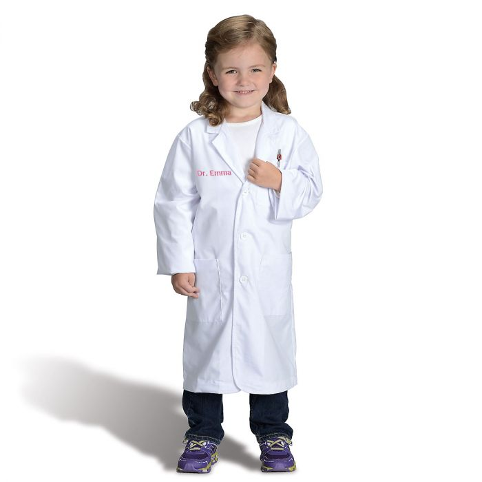Personalized Dress-Up Lab Coat Outfit
