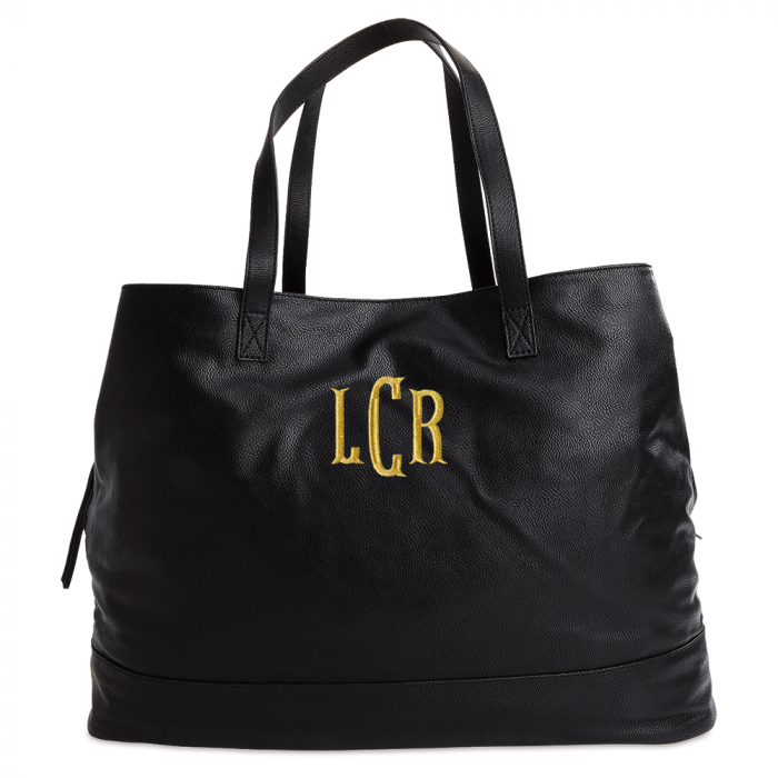 Personalized Black Overnight Travel Bag