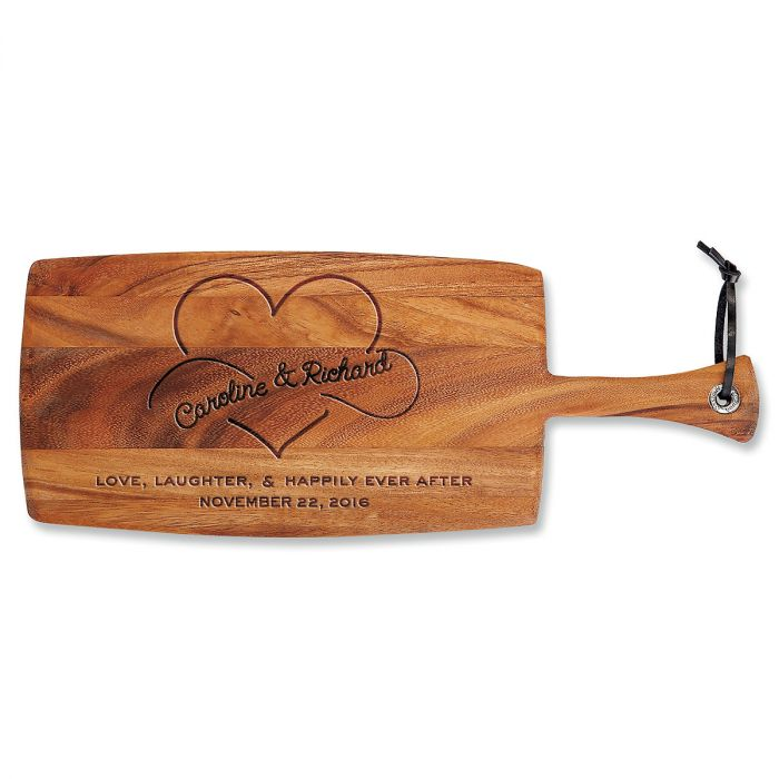 Personalized Happily Ever After Paddle Cutting Board