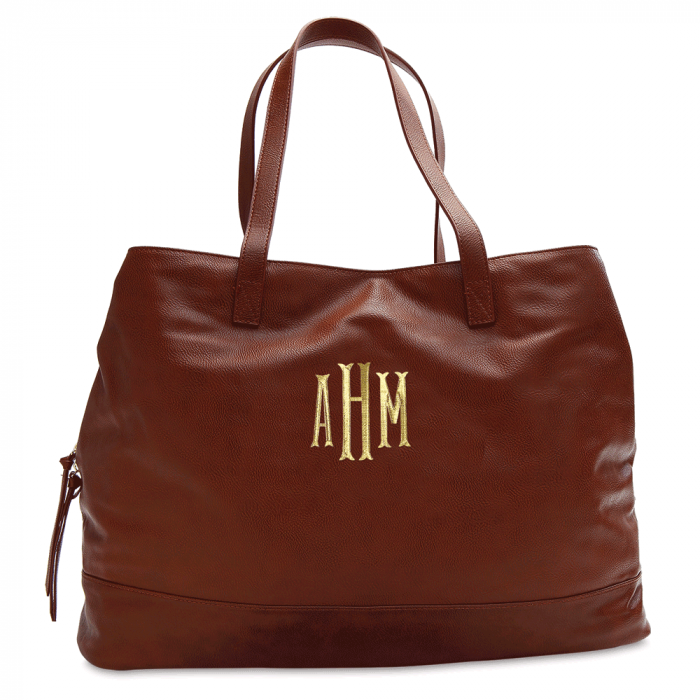 Personalized Camel Overnight Travel Bag