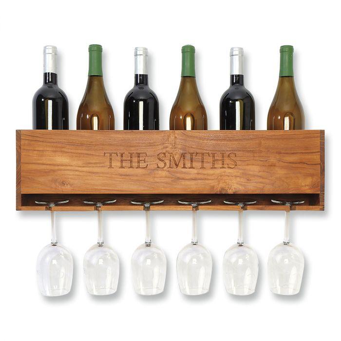Personalized Wine & Stem Organizer