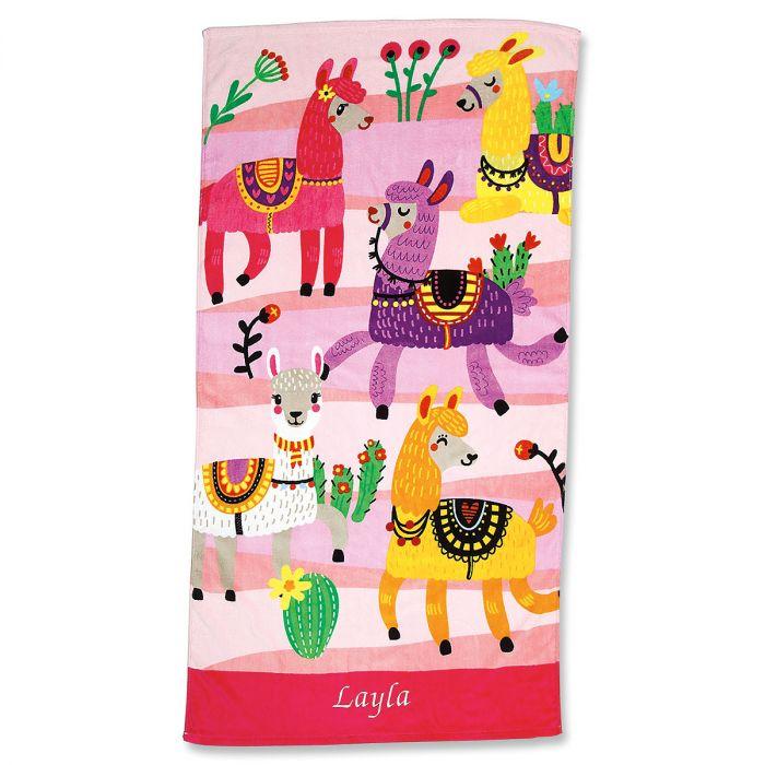 Llama Personalized Towel